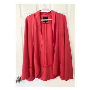 'Casual Pocket Blazer'-Soft Hot Pink